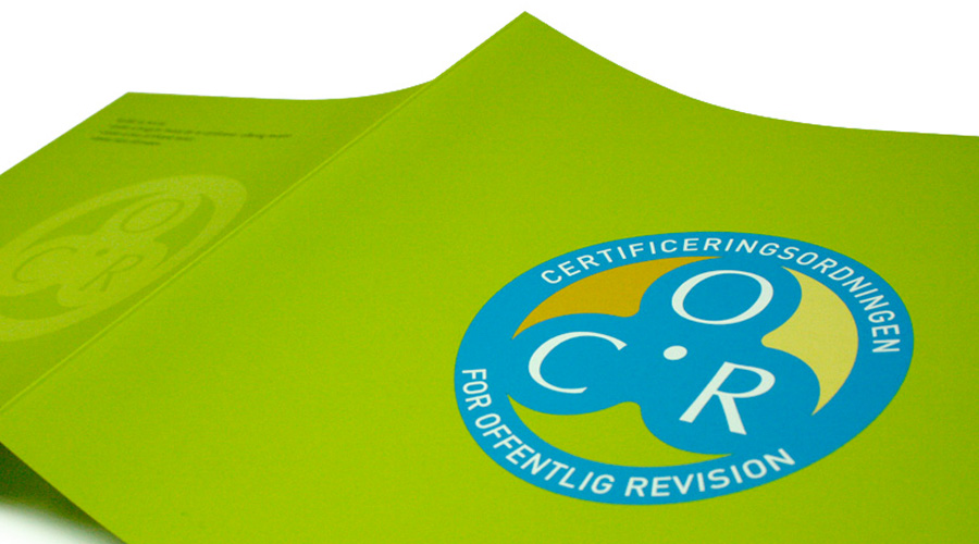 COR logo og brochure