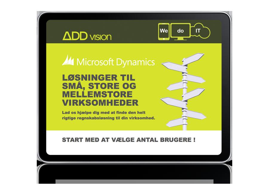 Web design – ADDvision kampagneside
